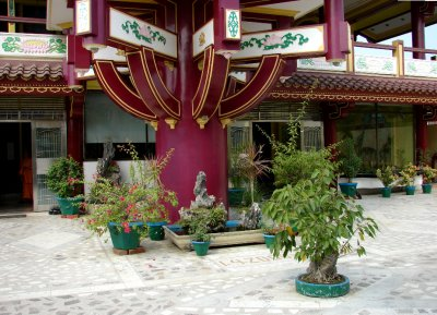 Vietnamese Temple courtyard