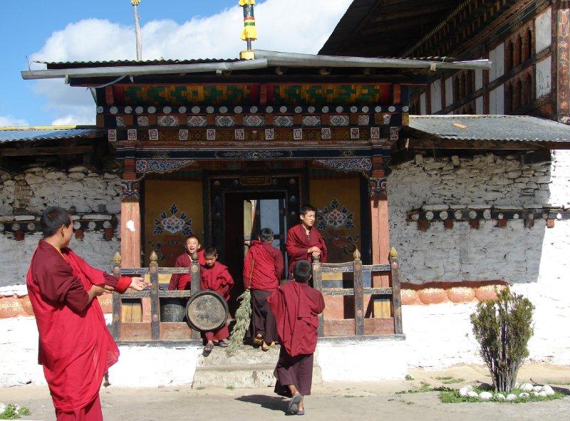 Monks At Tamshing Goemba