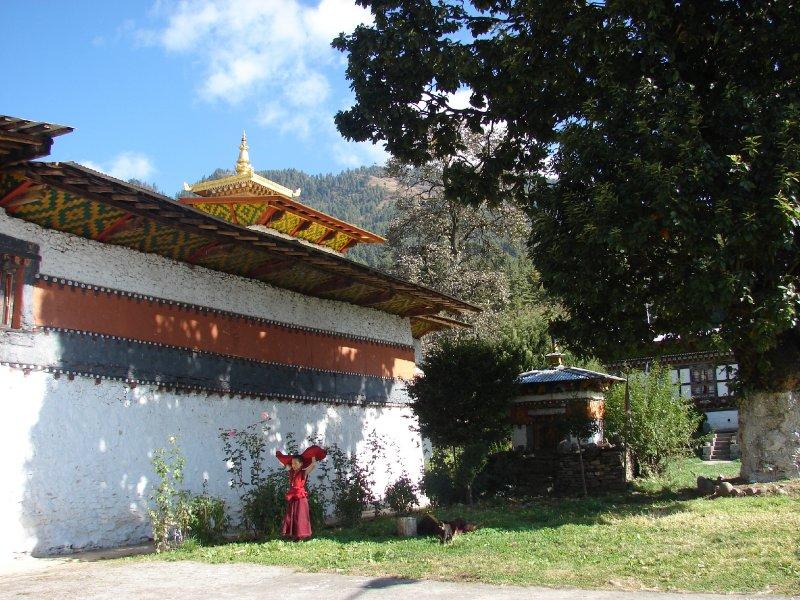 Outside Tamshing Goemba Monastery