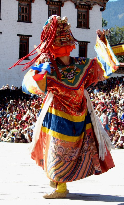 Masked Dancer in the Dance of the Terrifying Dieties