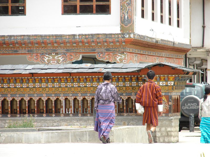 Prayer Wheels in Clocktower Square, Thimphu