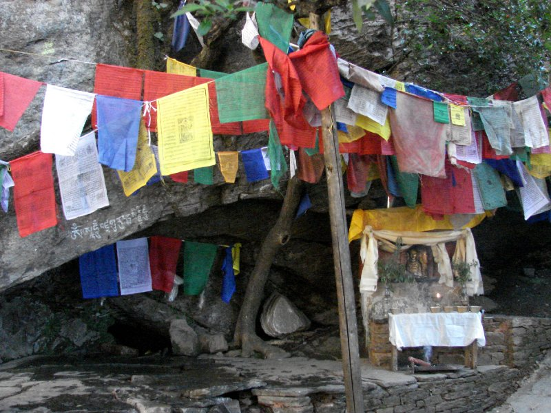 Shrine to local goddess below Taksang