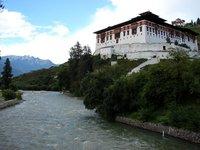 Paro Dzong from its Bridge