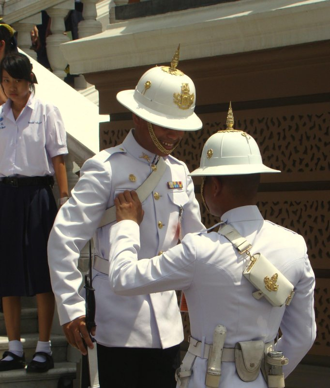 change of royal guard at the grand palace