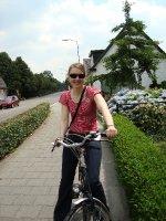 Cat On her bike