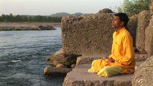 meditation in Haridwar Ganga