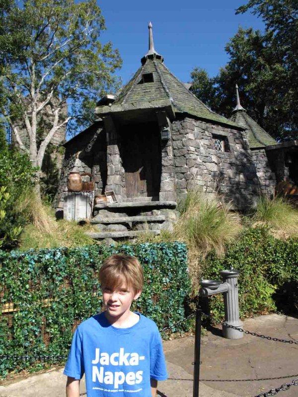Universal Jack outside Hagrid's hut