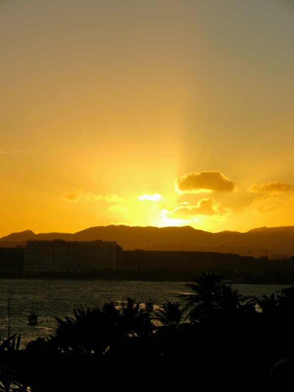 Sunset over Isla de Margarita