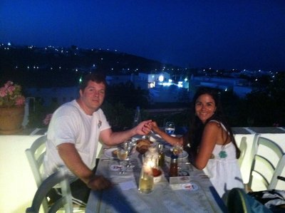 Romantic diner in Apollonia, Sifnos