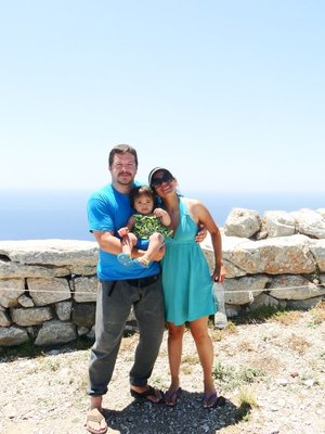 The Thibodeauxes in Ancient Thira