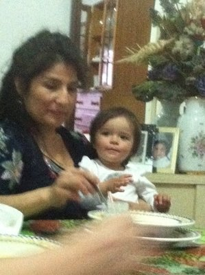 Luz and Ylla having a yummy soup