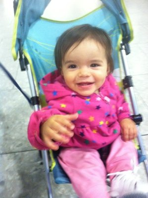 Ylla at the airport