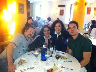 Jay, me, Vane and Steve in San Sebastian