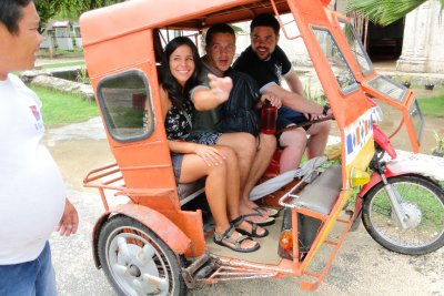 Us, proud to go on a tricycle to explore Siquijor
