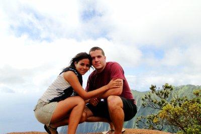 Us in Waimea Canyon, Kauai