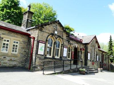 Railway Station at Hebden Bridge town