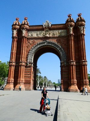 The Arch of Triumph of Barcelona