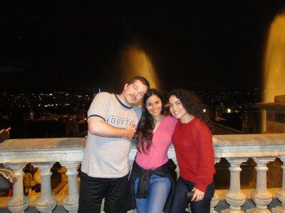 Vane and Us in Fuentes Magic de Mont Juic