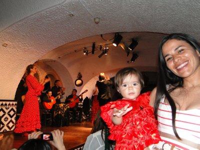 Mommy and daughter at Flamenco stage La Cordovesa