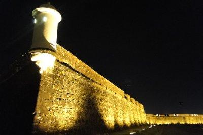 Macapá Fort at night