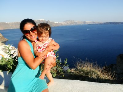 Ylla and I in Oia
