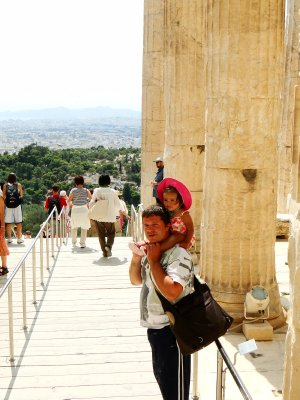 Jay and Ylla on their way our of Acropolis