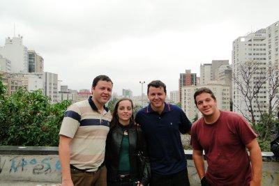 Alfredo, Valeria, Gonzalo and Jay in Av. Paulista
