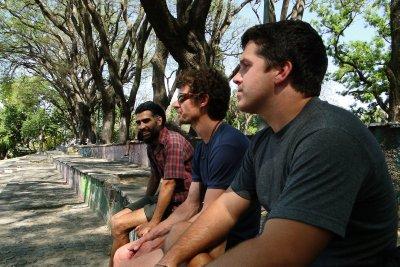 Monchi, Oli and Jay in San Telmo