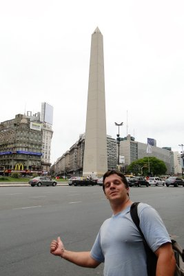 The Obelisk...Check it out, I'm in Buenos Aires!