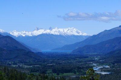 Three Peaks Glacier as seen from El Bolson
