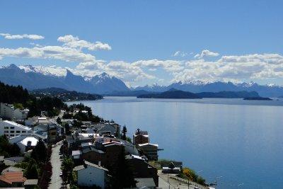 Nahuel Huapi Lake as seen from our Hostel