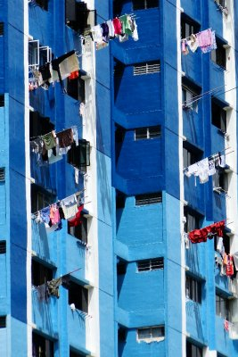 Drying clothes Singapore style