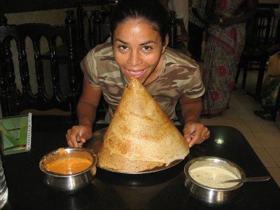 Eating Masala Dosa, Kannyakumari