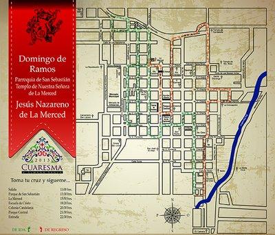 La Merced Procession Map