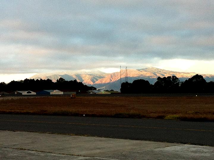 Sunrise at Guatemala Airport