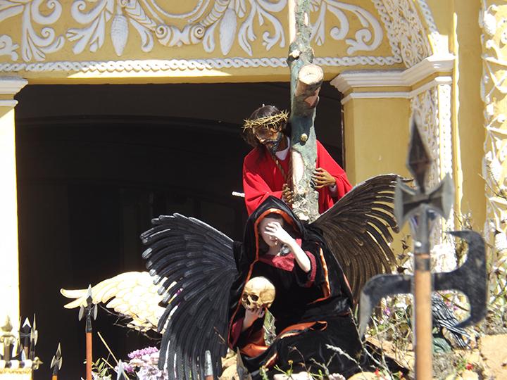 Anda entering La Merced Church