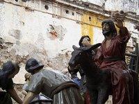 Jesus Arrives on a Donkey