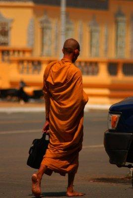 Monk in Phnom Penh, Cambodia