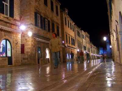 Main street in old town Dubrovnik