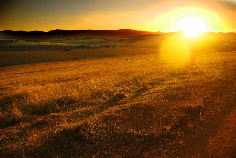 Sunset over the Ezulwini valley