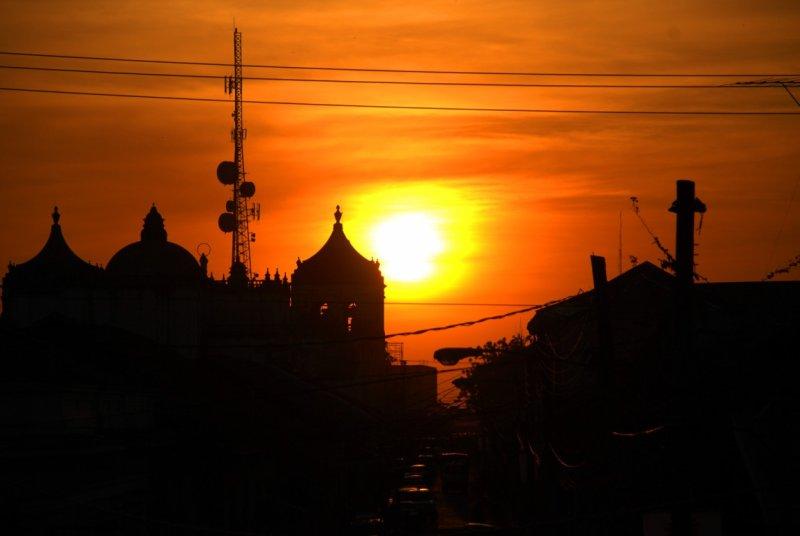 sunset over Leon - Nicaragua