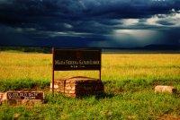 Masai Mara Serena Lodge sign - Kenya