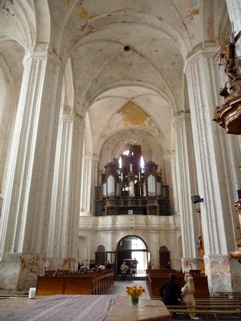 Inside St. Francis' and Bernadine Church, Vilnius