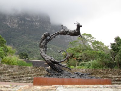Statue in the gardens under Table Mountain