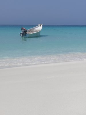 Our boat, our beach