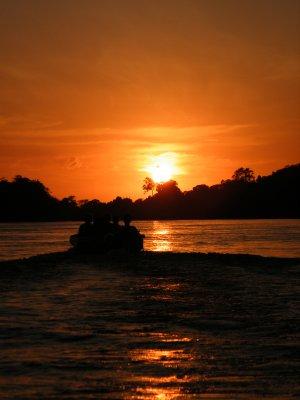 Sunset @ Kinabatangan river