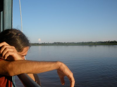 start of our river travel to iquitos