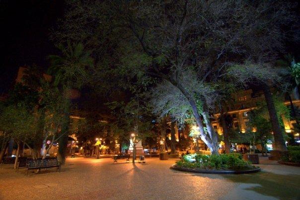 Plaza Del Armas by night