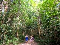 Walking through Bamboo Island