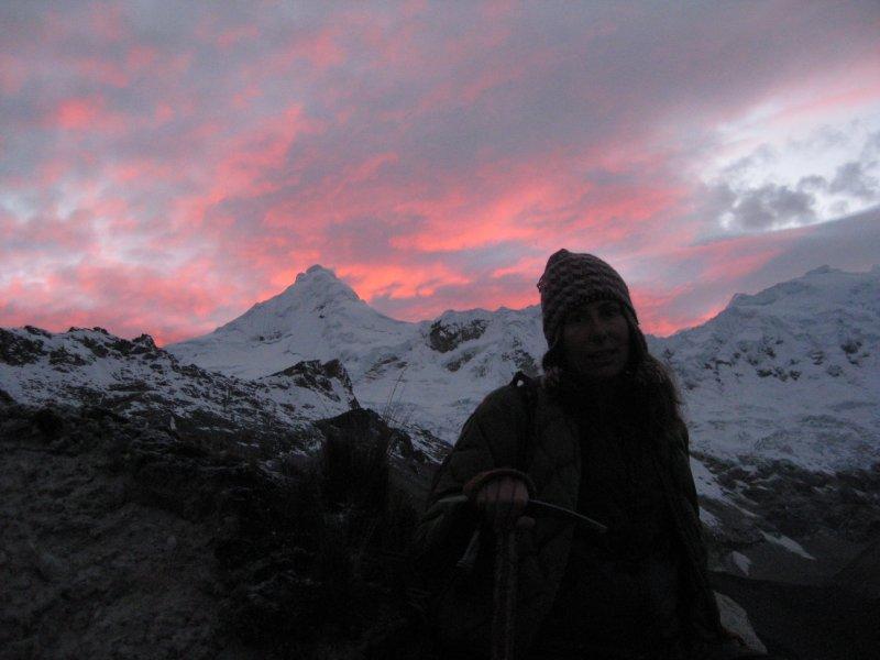 Sun rise on hike to Urus summit